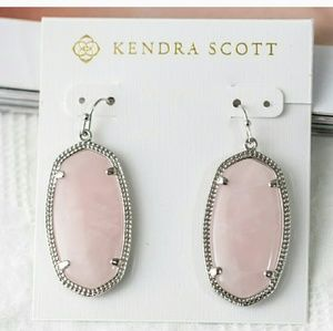Kendra Scott Elle Rose Quartz Earrings